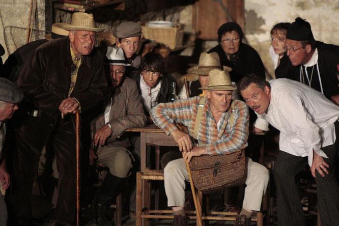 Pour leur dernier spectacle en plein air, la troupe a choisi d'interpréter « La Femme du Boulanger », de Marcel Pagnol. - (Photo Comédie bélâbraise)