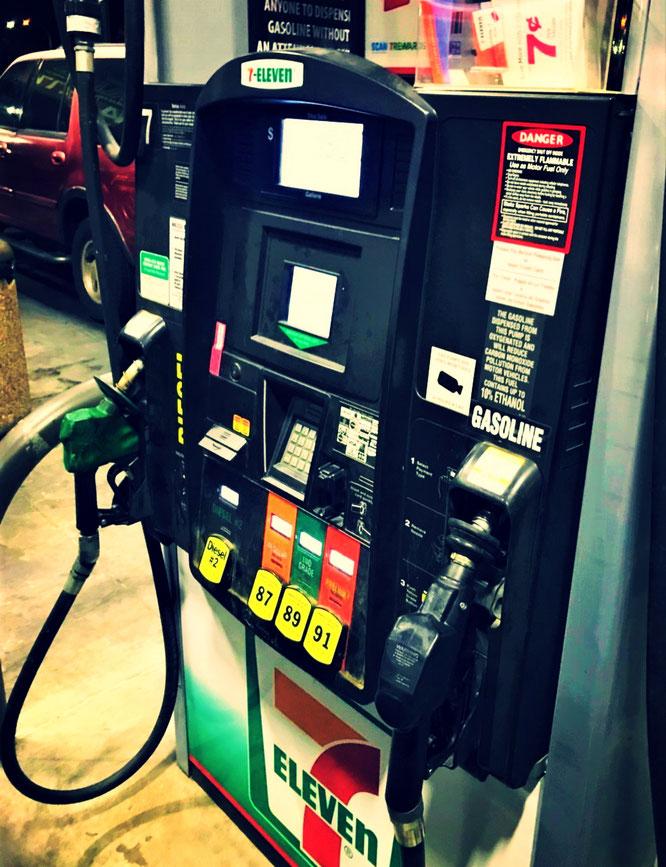ガソリンスタンド、アメリカ