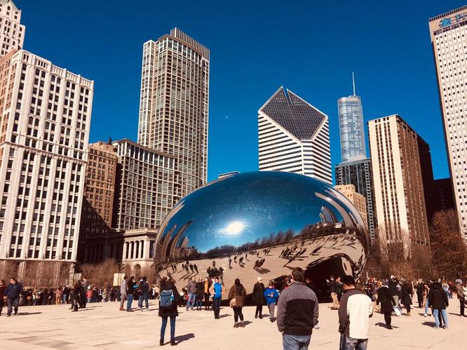アメリカ シカゴ 豆 ザ・ビーン クラウドゲート