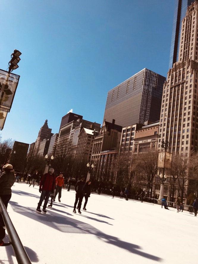 アメリカ シカゴ スケート ミレニアムパーク