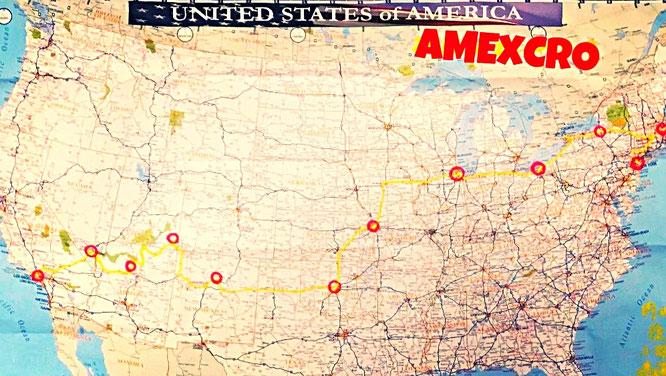 アメリカ 横断 地図