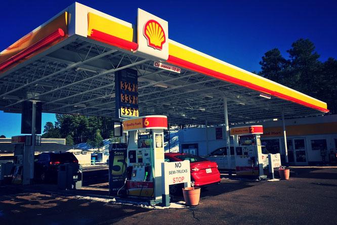 アメリカ横断中に使ったガソリンスタンド。