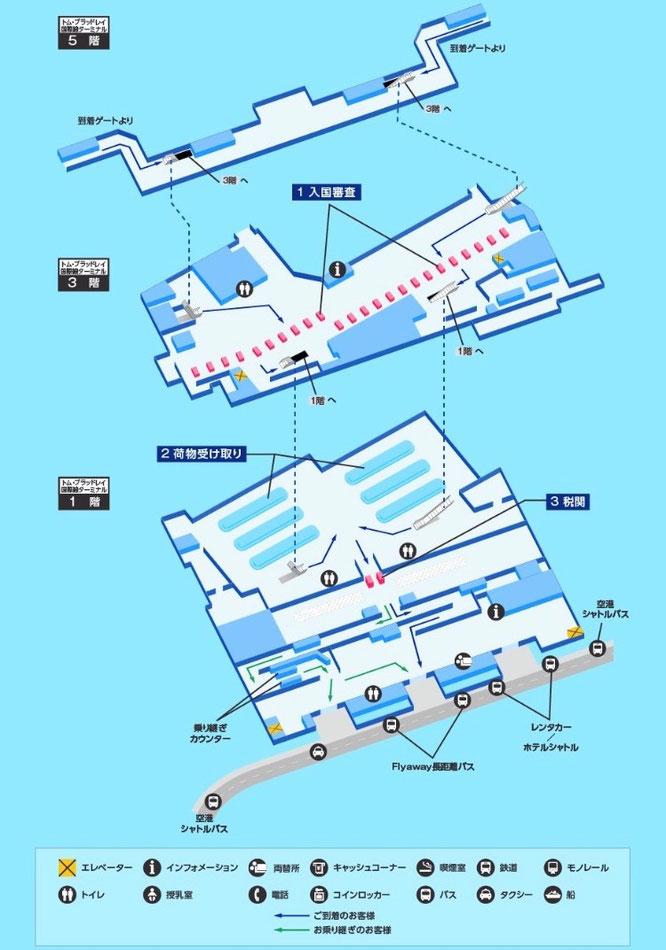 ANA トムブラッドレー空港地図