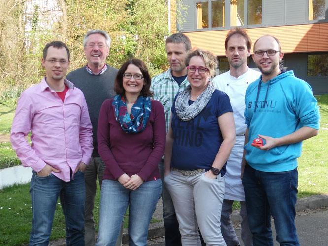 Der neue Vorstand mit Roland Heuer (rechts) als neuem Vorsitzenden