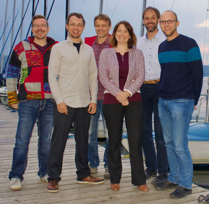 Der Vorstand: Von Links: Cornelius Weiß, Volker Golm, Friedrich Appel, Kerstin Ohlsen, Lothar Reiter, Roland Heuer. Nicht auf dem Bild: Tilman Lautzas.