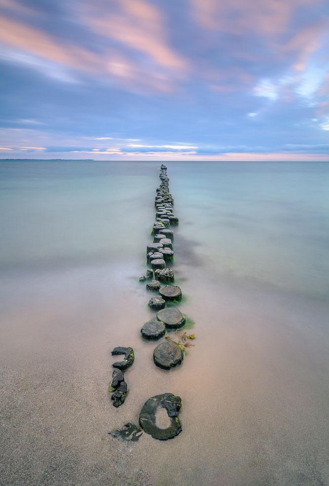Rügen Ostsee Langzeitbelichtung Meer Strand Glowe
