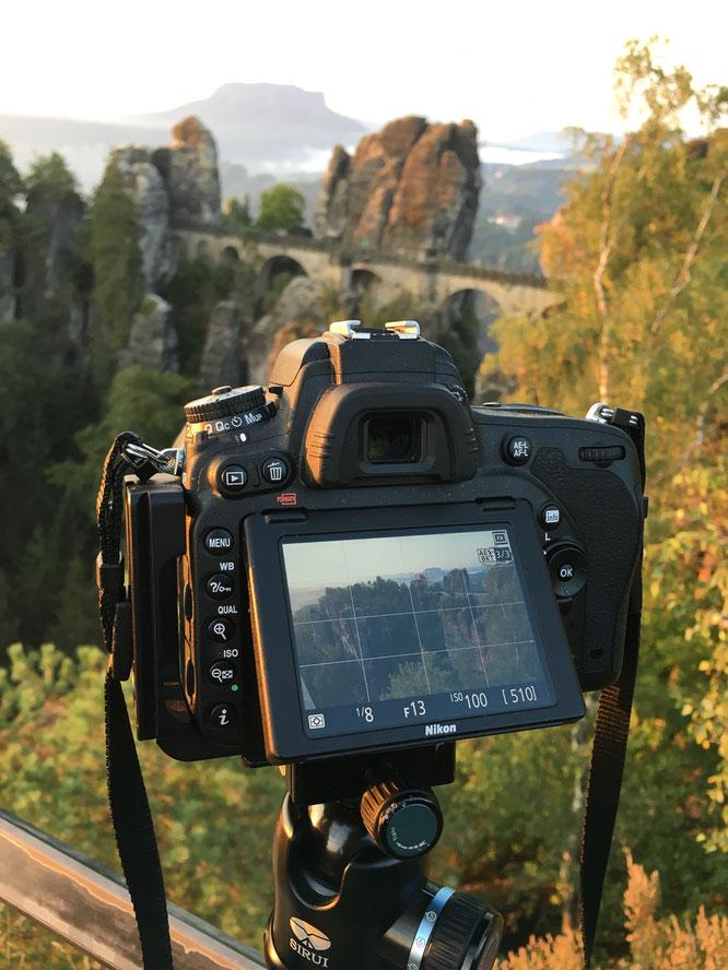 Nikon, D750, DSLR, Stativ, Sirui, 14-24, Bastei, Sächsischen Schweiz, Elbsandsteingebirge, Sonnenaufgang, Lightroom