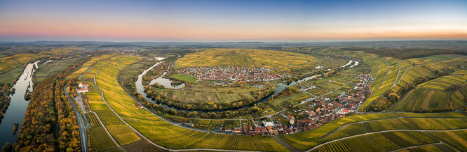 Vogelsburg, Franken, Luftbild, Volkach, Landschaft, Herbst,