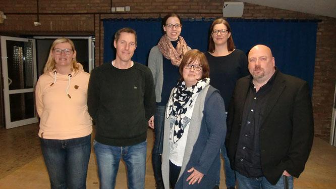 von links nach rechts: Frau Jösting, Herr Sudek, Frau Vejskal, Frau Klostermann (Vorsitzende), Frau Weiß, Herr Kasprzak (Vertretung)