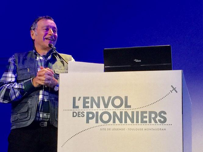 Gérard Hardy, le président d'Amicale Envol des Pionniers lors de l'assemblée générale du 23 février dernier.