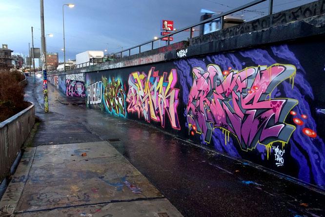 Hall of Fame Graffiti Frankfurt Germany Ratswegkreisel streetphoto Mary Kwizness