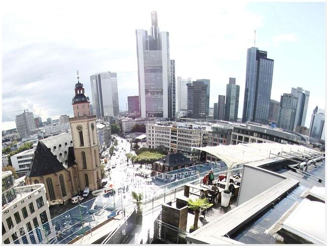 Frankfurt Skyline Hauptwache Zeil Zeilgalerie by Mary Kwizness
