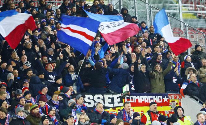 Kieler Fans in Kaiserslautern. Foto: PN