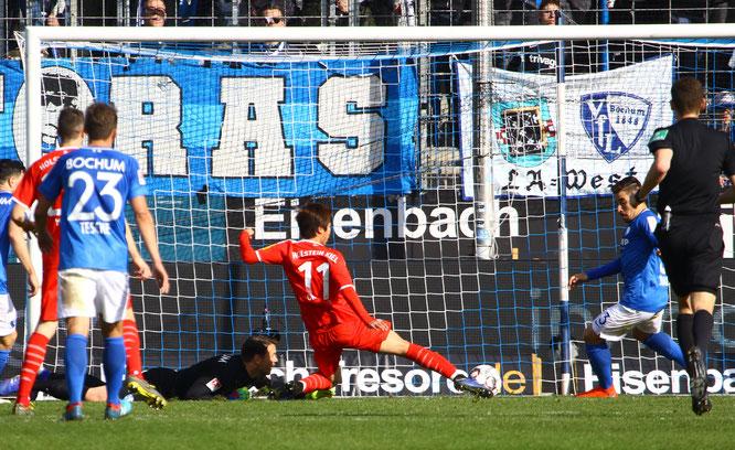 Masaya Okugawa erzielte das 0:3 in Bochum - Foto: pin