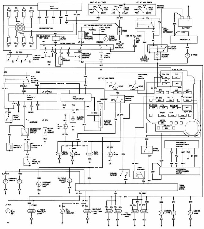 Cadillac DEVILLE - Wiring Diagrams on
