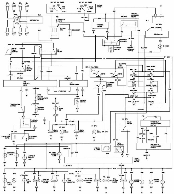 [SCHEMATICS_4FR]  Cadillac DEVILLE - Wiring Diagrams | Cadillac Electrical Wiring Diagrams |  | Automotive manuals - Wiring Diagrams