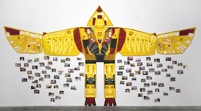 """Konsum-Transformer"", 2014, 5 x 2,20 m, ContemporaryArt Space Osaka, Osaka, Japan"
