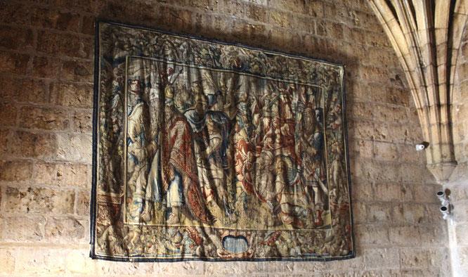Uno de los ocho tapices de la colección de Pompeyo Magno