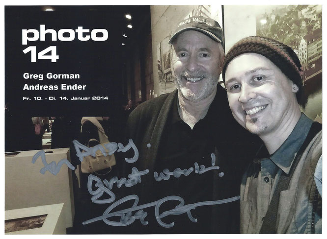 signed SELFie: Greg Gorman & Andreas Ender, photo-art+painting @ photo14 Zürich