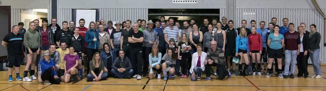 Die Teilnehmer des Passauer Freizeit-Mixedturniers 2017