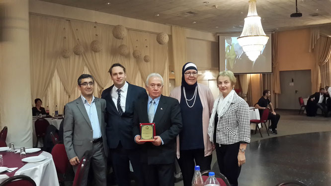 v.li.:Serdar Boskurt (1. Vors.), Michael Weinreich, Sami Sengül, Kesbana Klein