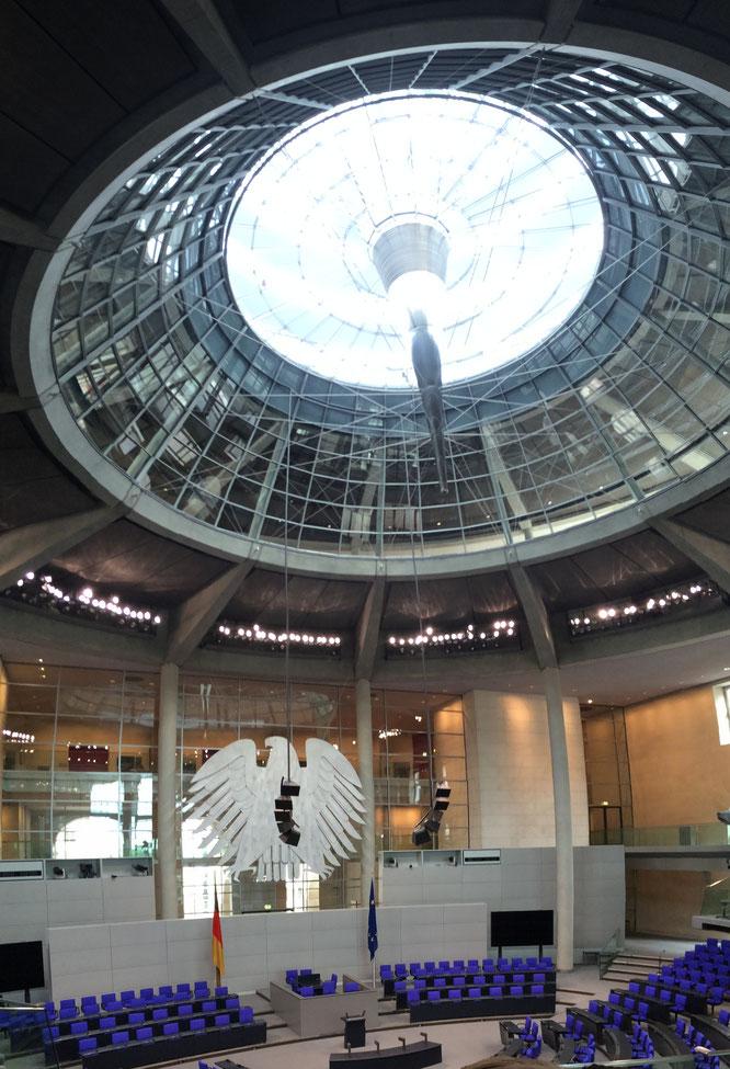 Der Plenarsaal von innen
