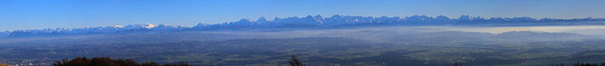 Uf em Wiisseschtei hättid mer es Panorama vom Säntis bes zom Mont Blanc chönne gseeh!