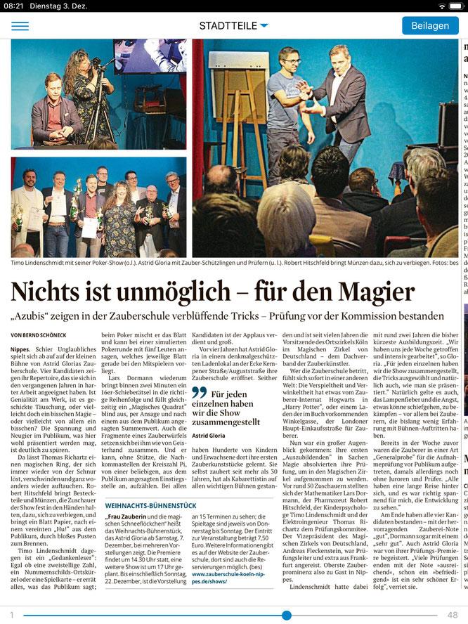 Aufnahmeprüfung in den Magischen Zirkel von Deutschland, Zauberprüfung, Zauberausbildung