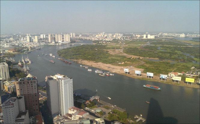 Bitexco Tpwer blick vom Saigon aussicht