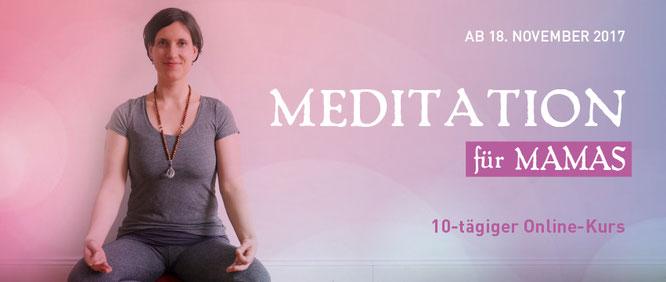 Maite Woköck schreibt auf dem Mama Yoga Blog MOMazing über den Online-Meditationskurs  für Mütter.