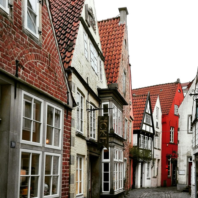 Schnoor Viertel Bremen - Alte Fachwerkhäuser