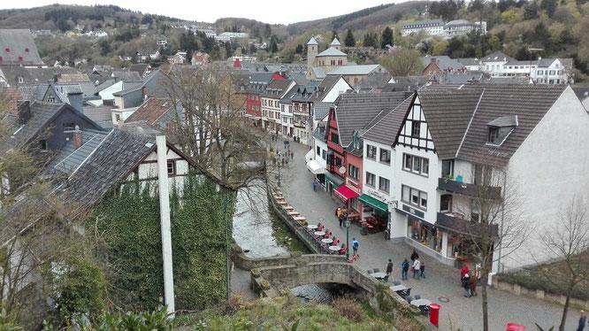 Die Aussicht auf den historischen Stadtkern von der Burg aus