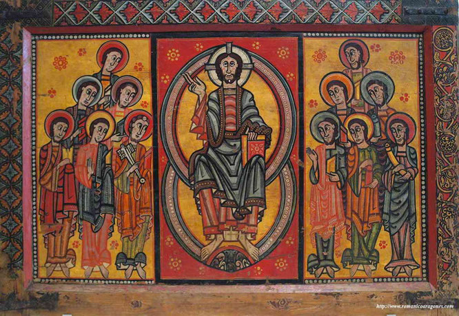 Ejemplo de pintura románica. Fuente: www.romanicoaragones.com.