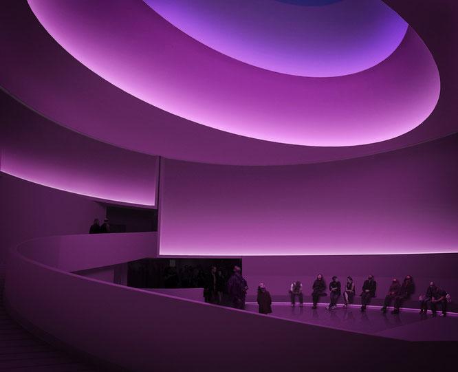 Homenaje realizado a James Turrel en el Museo Guggenheim de Nueva York (julio 2013).
