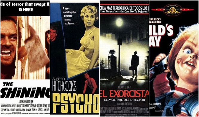 """""""El Resplandor"""", """"Psicosis"""", """"El Exorcista"""" y """"Chucky, el muñeco diabólico"""""""