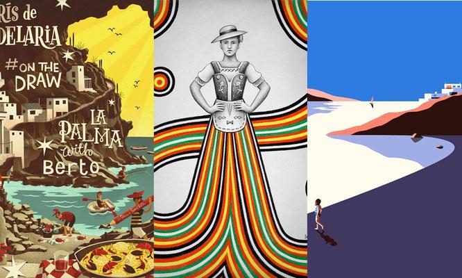 #Onthedraw, un viaje ilustrado por Canarias