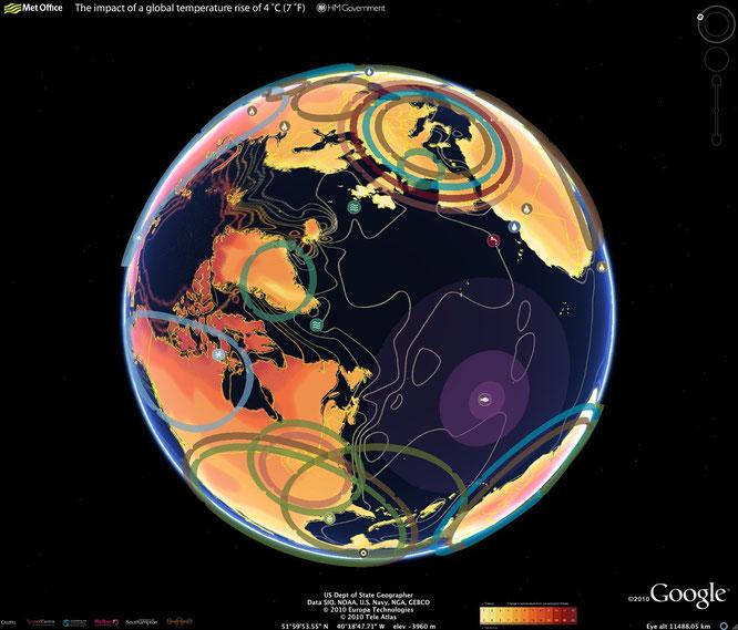 Impacto del cambio climático con Google Earth.