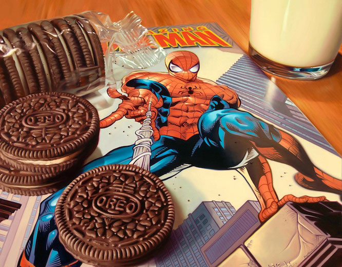 Pintura hiperrealista. Autor: Doug Bloodworth