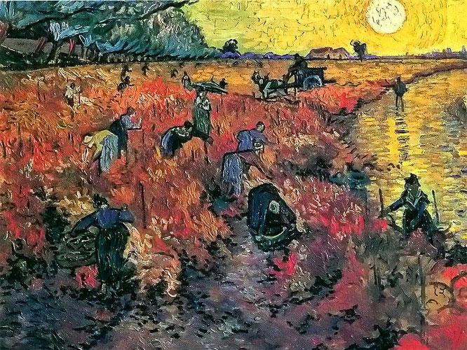 El viñedo rojo es una de las escasas obras que Van Gogh consiguió vender antes de morir.