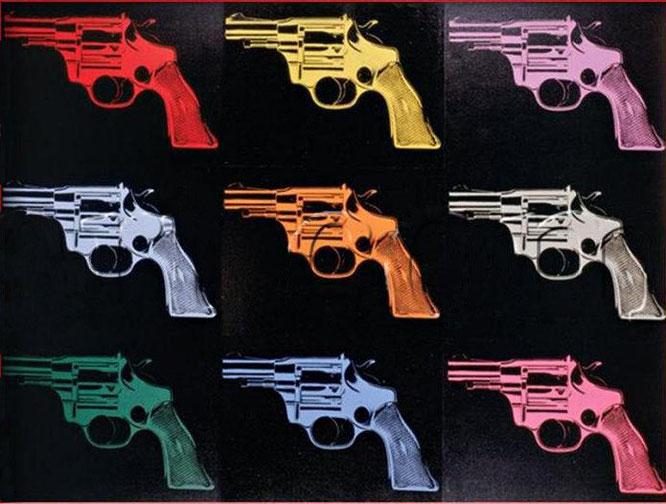 """Gun"" - Andy Warhol"