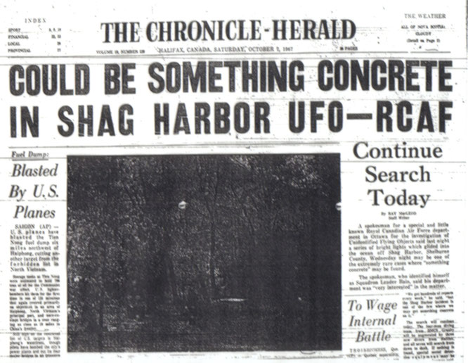 The Chronicle-Herald UFO shag harbour 1967