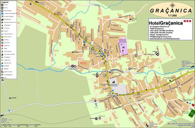 Map of Gracanica