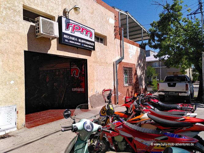 Argentinien - San Rafael - Motorradwerkstatt