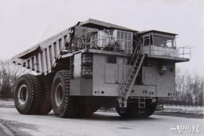 Карьерный самосвал БелАЗ-7550. Фото архивное
