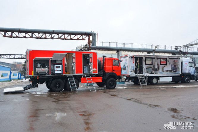 Мастерская Купава-673150 на шасси МАЗ-631724 и офис МАЗ-Купава-673110 на шасси  МАЗ-631089. 15/02/2019