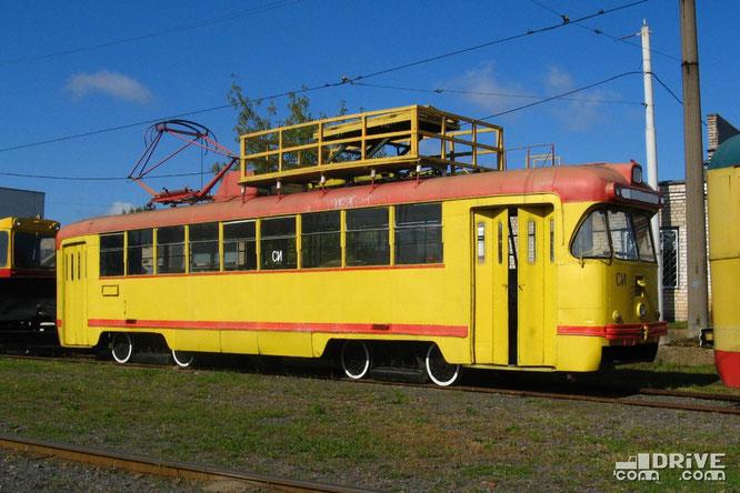 Сетеизмеритель на базе вагона РВЗ-6М2 (заводской №4744) выпуска 1982 года. Был переоборудован в служебный вагон в 2004 году, после чего некоторое время эксплуатировался и был списан в 2018 году. Фото Ивана Войтешонка. 01/09/2008