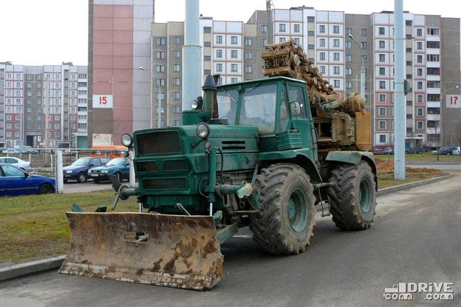 Военный инженерный тягач Т-155 с установкой ПЗМ-2. Минск. 14/03/2007