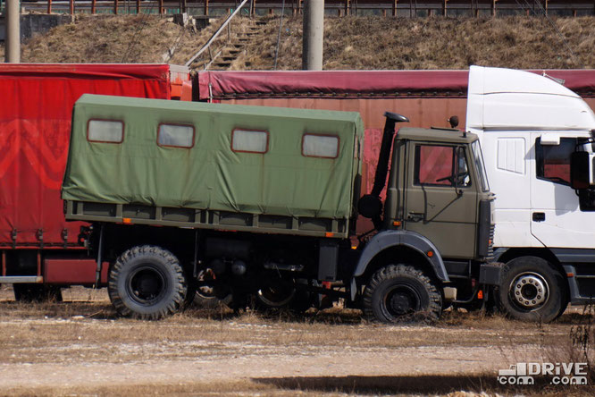 МАЗ-5327. Армейский грузовик с правым рулем
