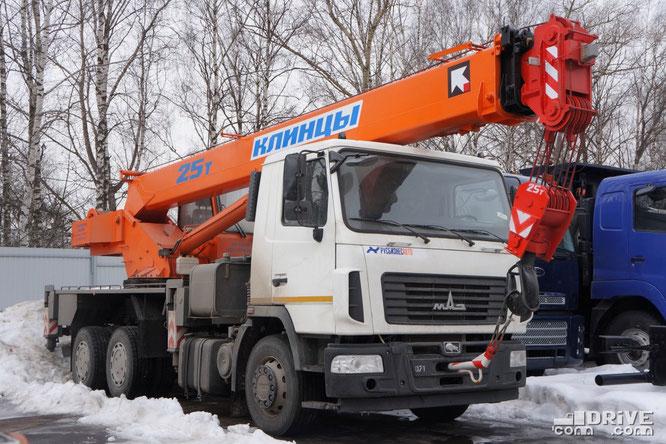 Автокран КС-55713-6K-1(557236) на шасси МАЗ-6312B3. Площадка техники Русбизнесавто (Альфа). 05/04/2013
