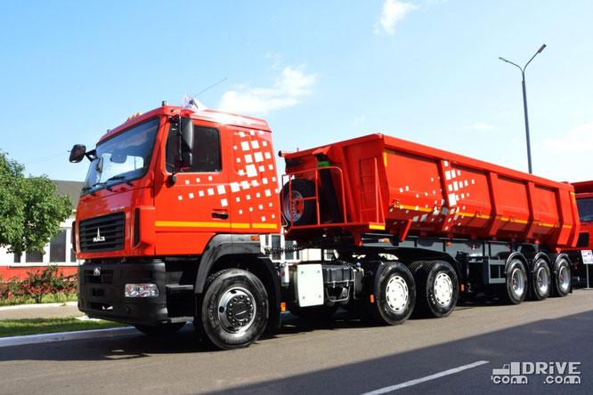 Седельный тягач МАЗ-643028-520-012 с полуприцепом МАЗ-953003-030-010